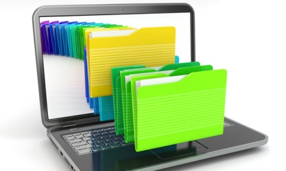 Laptop-and-computer-file-folders